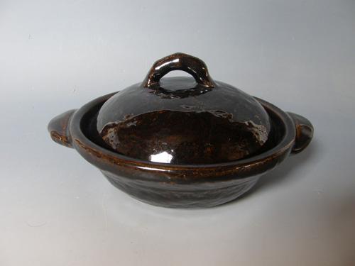 黒柿釉6寸鍋焼き鍋