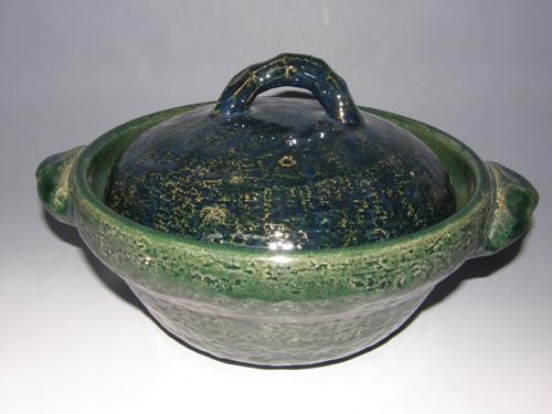 織部釉8寸鍋
