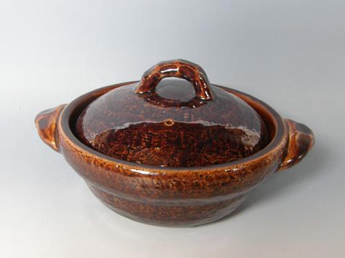 アメ釉8寸鍋
