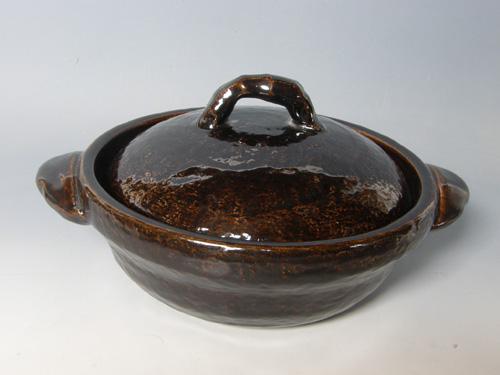 黒柿釉9寸鍋