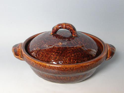 アメ釉9寸鍋