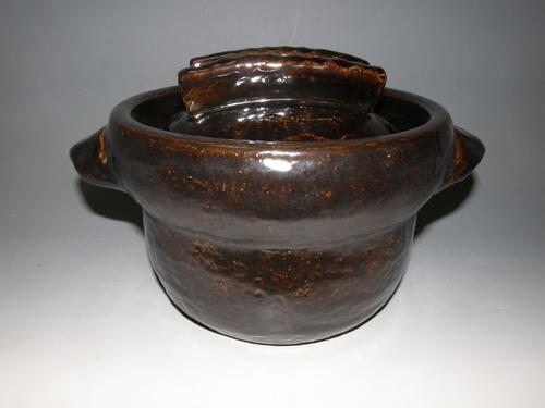 黒柿釉ごはん鍋 3合炊き