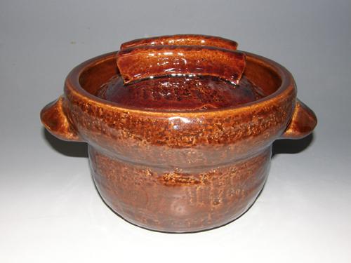 アメ釉ごはん鍋 3合炊き