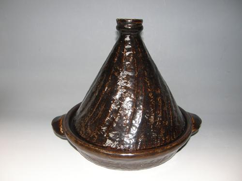 黒柿釉タジン鍋